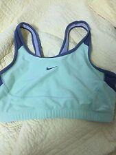 Nike Running Sports Bra Halter Top Shirt Athletic Exercise Yoga Teal Womens M