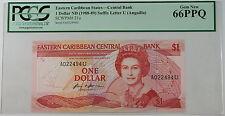 (1988-89) E. Caribbean States (Anguilla) $1 Note SCWPM# 21u PCGS 66 PPQ Gem New