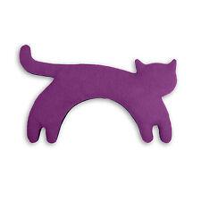 Leschi Die Katze Minina Wärmekissen stehend purpur / mitternacht 39 x 17 cm, h 4
