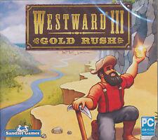 WESTWARD III 3 GOLD RUSH - Economic Strategy Building PC Game WinXp/Vista/7 NEW!