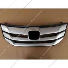 ABS Chrome Front Bumper Center Grill Grille k Refit For Honda Crosstour 2013-15