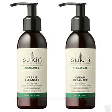 Sukin CREAM CLEANSER Face/Facial Cleansing Wash With Rosehip&Avocado DUO PACK