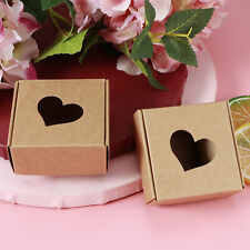 50Pcs Kraft Paper Hand‑Made Soap Box Wedding Favor Gift Box Packing Packaging
