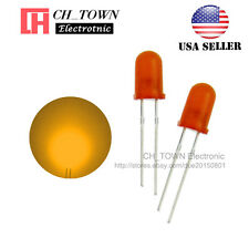 100pcs 5mm Diffused Orange-Orange Round Top LED F5 DIP Light Emitting Diodes USA