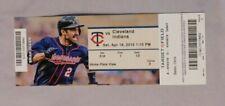 Minnesota Twins Vs Cleveland Indians 4/18/15 Ticket Stub
