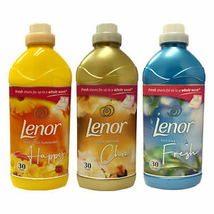 Lenor Fabric Conditioner 1.05L 30 Washes 3 Fresh Scents Laundry Softener