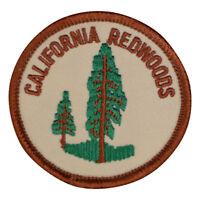 "California Patch - Redwoods, Sequoias, CA Nature Badge 2.5"" (Iron on)"