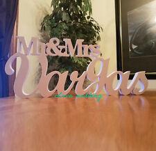 commission Wedding Sign, Mr and Mrs LAST NAME, Wedding,Mr & Mrs Last Name Tabl