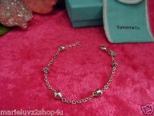 Tiffany & Co. Silver Barrel Bead By The Yard Bracelet, Rare Retired Gift Ready !