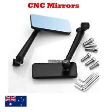 CNC black universal rear view motorcycle mirrors 8/10 mm Yamaha Suzuki Kawasaki