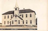 Real Photo Postcard 1891 Public School in Douglas, Nebraska~108319