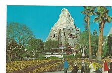 D series Matterhorn Mountain, Disneyland Postcard