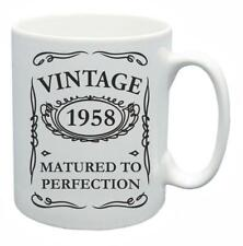 60th Novelty Birthday Gift Present Tea Mug 1958 Matured To Perfection Coffee Cup