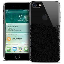 "Coque Crystal Gel Pour iPhone 7 (4.7"") Extra Fine Souple Spring Bas dentelle Noi"