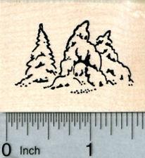 Pine Trees Rubber Stamp, Snow Covered Evergreen, AKA Fir Tree, Small E31303 WM