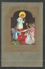 image pieuse ancianne Jesus Bambino santino holy card estampa