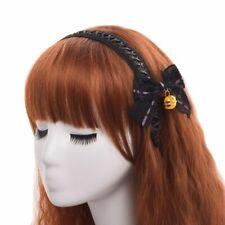 Cute Lolita Girl Black Lace-up Hair Band Bowknot Bell Hair Clip Headwear