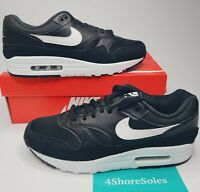 NEW Nike Men's SIZE 8 Air Max 1 Black White Trainers Running Shoes AH8145 014