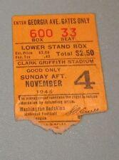 1945 Washington Redskins Chicago Cardinals NFL Football Ticket Stub November 4