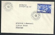 Switzerland covers 1939 franked Fieldpostcover FliegerKP to Fribourg
