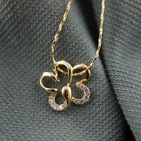 18k Gold GF solid crystals pendant necklace with Swarovski elements