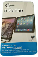 New Mountie Ten Design Side Mount Clip Holds iPhone iPad mini Blue