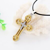 "Women's/Men's Cross Pendant Necklace Stainless Steel 20"" Chain Fashion Jewelry"