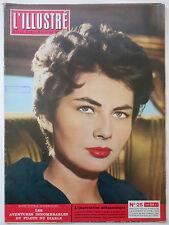 L'ILLUSTRE #25 1956 Soraya Martine Carol vintage Suisse magazine