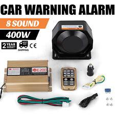 on 400W 8 Sound Loud Car Warning Alarm Fire Siren Horn Speaker MIC Sale