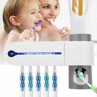 Nuovo UV Spazzolino Sterilizzatore Titolare Auto Dentifricio Distributrice