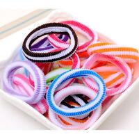 48XElastic niños pelo banda niños coloridos accesorios de pelo de bebé DP