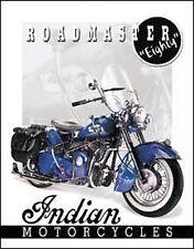 Vintage Replica Tin Metal Sign Indian motorcycle roadmaster 51 powerglide 1084