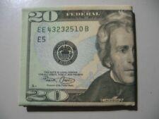 $20 Dollar Bill) Money pattern/print Canvas bi-fold Wallet (NEW)