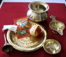 Hindu Puja Prayer Havan Ritual Brass Accessories for Temple Religious Holi Pooja