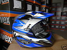 Uvex Enduro Motorcycle Helmet 3 IN 1 New Sealed Blue/Silver SIZE XS