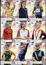 2012 Topps USA Olympics Complete SILVER FOIL Set 1-100...Phelps/Morgan