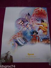 "NEW-MINT- 2003  Walt Disney,""DISNEY'S EPCOT CENTER"" ""100 Years of Magic""poster"