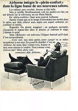 PUBLICITE ADVERTISING  1965   AIRBORNE   fauteuil & pouf ETOILE