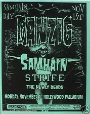 "DANZIG & SAMHAIN 2005 ""SAMHAIN DAY"" HOLLYWOOD CONCERT TOUR POSTER - The Misfits"