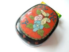 More details for 18/19c japanese ginbari cloisonne lidded box - great antique quality