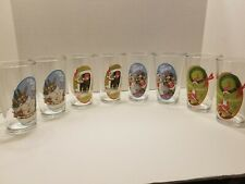 DR. SEUSS-HOW THE GRINCH STOLE CHRISTMAS SET OF 8 DRINKING GLASSES 16 O Z