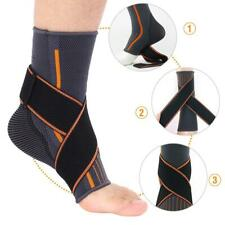 Ankle Support Brace Compression Breathable Foot Elastic Guard Strap L Man Nylon