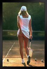 Tennis Girl Photograph Framed Poster 12x18