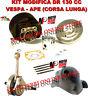 Set Cylindre Modification Vespa 50 R L N Groupe Thermique 130 Dr Vilebrequin