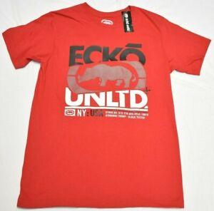 Ecko Unltd T-Shirt Men's Size L Double Crossed Logo Graphic Tee Red Urban Q716