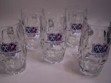 Hacker-Pschorr Brau Munchen - Set of 5  Glass Beer Mugs  - 12 oz. each