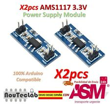 2pcs LM1117 AMS1117 4.5-7V turn 3.3V DC-DC Step Down Power Supply Module