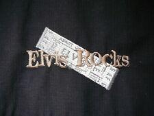 ELVIS PRESLEY 'ELVIS ROCKS' black coat jacket. Official EPE Graceland clothing
