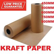More details for brown kraft parcel paper for packing and wrapping parcels strong rolls 88gsm