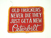 1970's Peterbilt Old Truckers Never Die Campy Jacket Patch New NOS 1970s Yel/Red